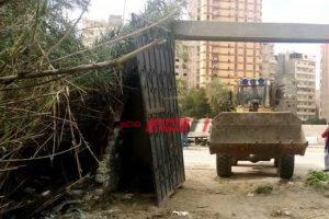 إزالة تعديات على أراضي تابعة لهيئة الأوقاف المصرية في المنتزه ثان محافظة الإسكندرية