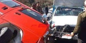 إصابة 10 أطفال فى حادث تصادم سيارتين في القليوبية