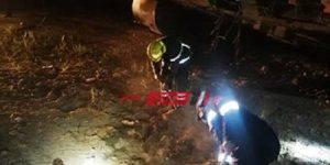 إصابة 36 مواطن في انقلاب قطار ركاب خط محرم بك - الضبعة عن القضبان
