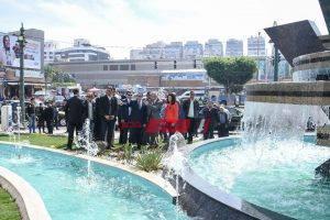 افتتاح أعمال تطوير ميدان سيدى جابر في محافظة الإسكندرية- صور