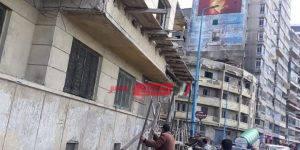انهيار أجزاء من عقار في حي المنتزه في الإسكندرية