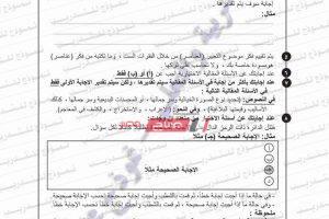 بوكليت اللغة العربية للثانوية العامة من موقع وزارة التربية والتعليم – نموذج للتدريب