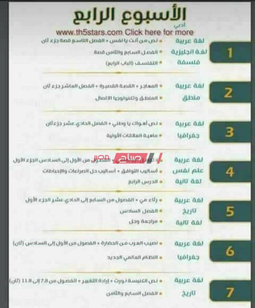 أقوى جدول مذاكرة للشهادة الثانوية العامة أدبي اضمن المنهج خلال شهر فقط صباح مصر