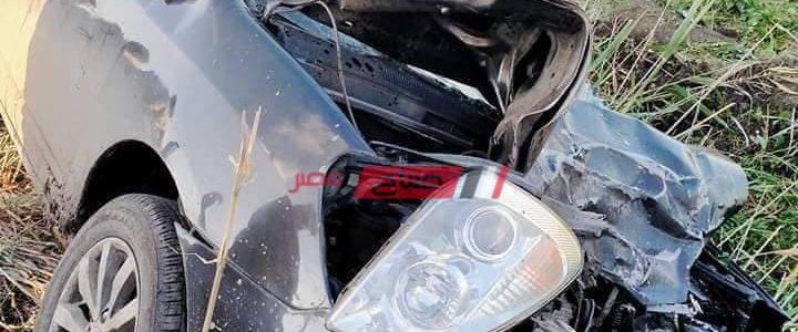 بالصور والاسماء مصرع وإصابة 5 أشخاص جراء حادث تصادم مروع في دمياط