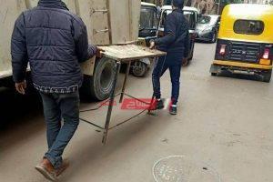 حملات إزالة إشغالات وتعديات مكبرة فى حي العجمي محافظة الإسكندرية