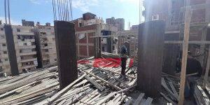 حملات مكبرة للتصدي لظاهرة المباني المخالفة في حى الجمرك