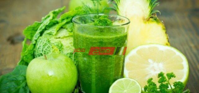 طريقة عمل سموذي الشاي الأخضر الصحي