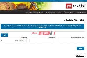 موقع دعم مصر تحديث بيانات بطاقة التموين – سجل موبايلك الان