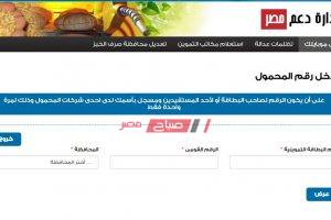 رابط موقع دعم مصر لتحديث بيانات بطاقات التموين وإضافة رقم الهاتف المحمول