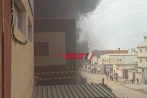 نشوب حريق داخل مصنع زيوت فى محافظة الإسكندرية