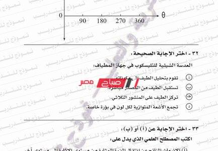 نموذج امتحان بوكليت التفاضل والتكامل الثانوية العامة وزارة التربية والتعليم