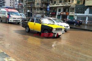 تساقط أمطار متوسطة على الإسكندرية الآن مع توقعات بتحسن الطقس تدريجياً