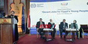 وزيرة الصناعة خلال فعاليات مشروع وظائف مصر