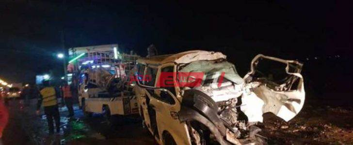 إصابة ١٦ شخص بالمنوفية في حادث تصادم