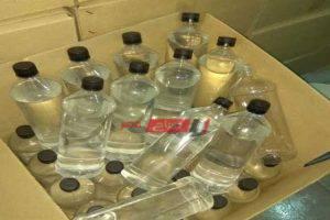 ضبط 400 لتر من الكحول الإيثيلي داخل شركة امتنعت عن بيعها في الإسكندرية
