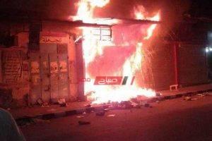 عاجل – نشوب حريق بالحامدية الشاذلية في المهندسين