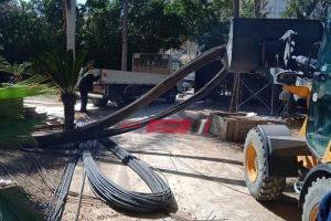 إيقاف أعمال بناء مخالف داخل فيلا عايدة الأثرية في محافظة الإسكندرية