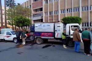 شن حملة مكبرة لتطهير وتعقيم شوارع قرية السوالم بكفر سعد في دمياط
