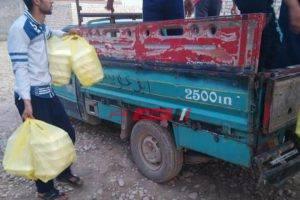 توزيع 1600 وجبه على الأسر الأكثر احتياجا لمواجهة الظروف الراهنة بدمياط