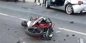 حادث دراجة بخارية بدمياط