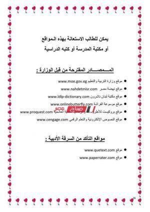 الأبحاث المطلوبة للصف السادس الابتدائي 2020 وزارة التربية والتعليم - موقع صباح مصر