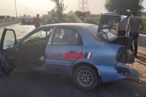 إصابة 4 أشخاص فى حادث تصادم في طريق طنطا