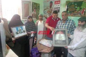 تضامن دمياط تهنئ أسرة بطل ملحمة البرث الشهيد أحمد العربي حماد بعيد الفطر المبارك