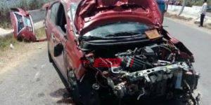 حادث انقلاب سيارة ملاكي على طريق رأس البر