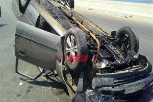 حادث تصادم على طريق الفيوم الصحراوي يتسبب في كثافات مرورية