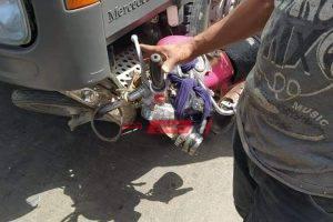 بالصور إصابة شخص جراء حادث دراجة بخارية بدمياط