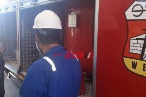 بالصور رئيس شركة ويبكو للبترول يتفقد موقع ميناء الحمراء البترولي لمتابعة سير العمل وتهنئة العاملين  بعيد الفطر المبارك