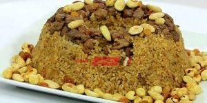 أرز بالكبدة و المكسرات