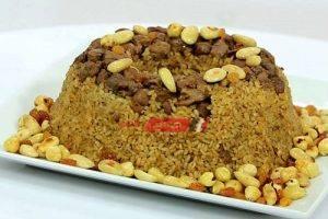 طريقة عمل الأرز بالكبدة والمكسرات