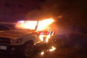 اصابه شخص جراء اندلاع حريق في سياره على طريق دمياط بورسعيد