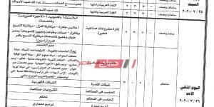جداول امتحانات الدبلومات الفنية نظام ثلاث وخمس سنوات