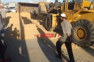 بالصورة سيارة نقل تقتل قائد ملاكي في حادث مروع بدمياط
