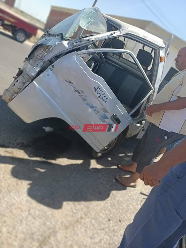 حادث سير على طريق دمياط بورسعيد