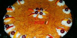 طريقة عمل الكنافة بالقشطة والفواكهة