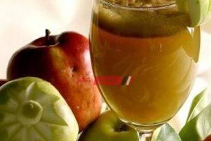 طريقة عمل عصير التفاح الأخضر لحرق الدهون