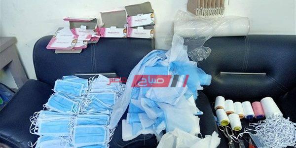 ضبط مصنع بالمنوفية لتصنيع الكمامات المغشوشة علي حساب أرواح المواطنين