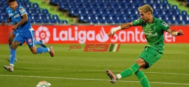 نتيجة مباراة خيتافي وريال سوسييداد بطولة الدوري الاسباني