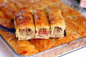 طريقة عمل البوريك التركي بحشوة اللحم المفروم
