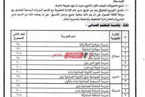 تنسيق الشهادة الاعدادية 2020 محافظة سوهاج درجات القبول في المدارس الثانوية العام المقبل