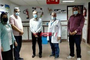 بعد زيارة المحافظ وكيل الصحة بدمياط يتفقد سير العمل في مستشفى الرمد