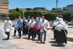 وكيل وزارة الصحة بدمياط يتفقد مستشفتي راس البر وعزبة البرج