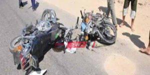 حادث تصادم بين دراجتين بخاريتين