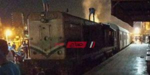 حريق قطار دمياط شربين