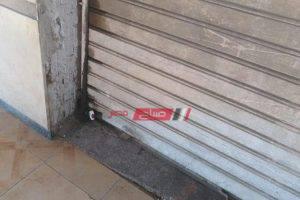 حملات إزالة إشغالات وغلق 4 محلات مخالفة فى محافظة الإسكندرية