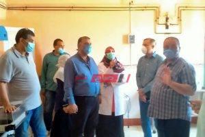 جولة تفقدية لوكيل وزارة الصحه بدمياط لزيارة عدد من مستشفيات المحافظة