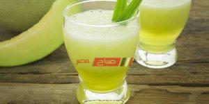 عصير فريش من الكانتلوب باللبن والفانيليا